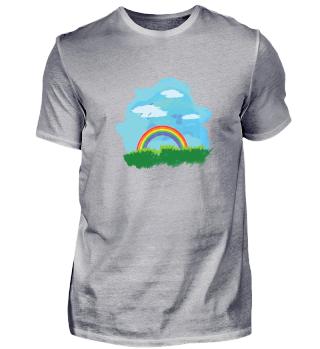 Nature Rainbow Man Freedom Sea lake Gift