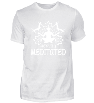 Heavily Meditated Yoga Humor Funny Yoga