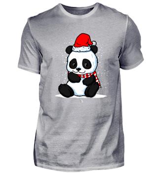 Panda Santa Weihnachten Geschenk