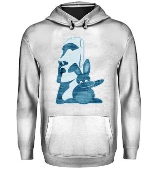 ★ Dabbing Bunny Easter Island Moai 2