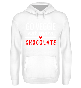 Vegetarier Spruch Veggie chocolate