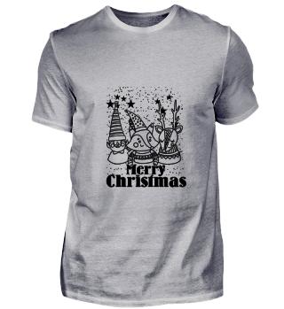 GIFT- ANIMAL MERRY CHRISTMAS BLACK