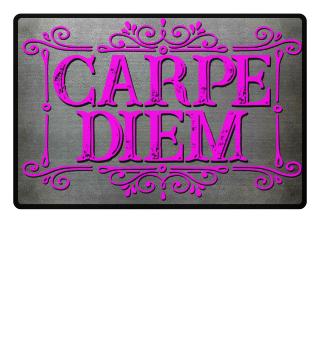CARPE DIEM - vintage frame Fußmatte 3