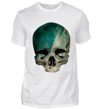 pale skull covered with color halloween