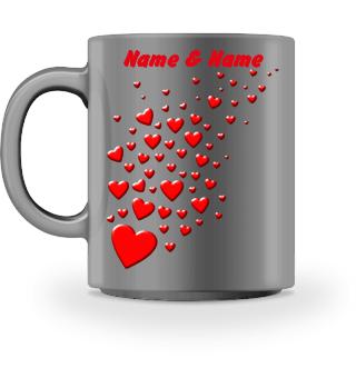 PERSONALISIERBARE Herzen Tasse heart Mug