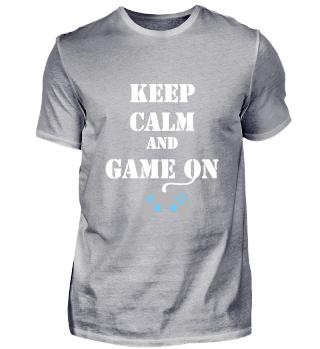 gaming keep calm game on gamer gift