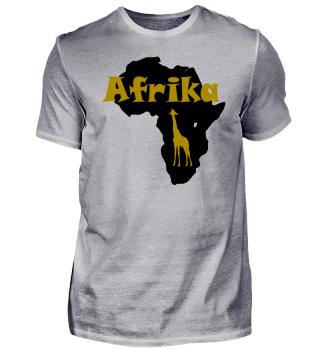 Afrika mit Giraffe