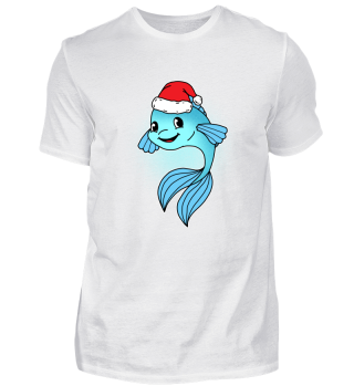 Christmas Santa Fish