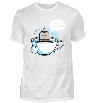 Lustiges Tee Shirt Teetrinker
