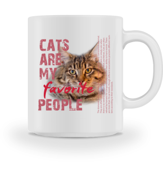CATS ARE MY FAVORITE PEOPLE red
