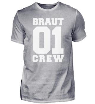 Junggesellenabschied Braut Crew Queen