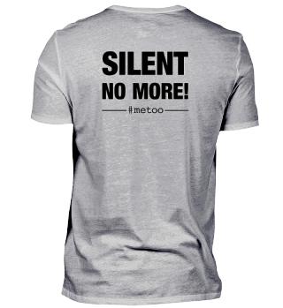 #metoo SILENT NO MORE back print