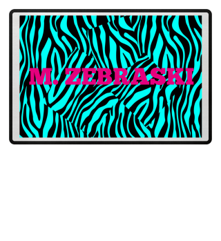 ♥ Zebra Stripes Art Black Turquoise 2