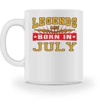 Legends are born in July birthday gift shirt