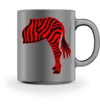 ARBEZ Zebra from behind - black red