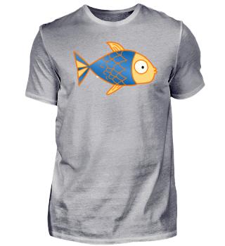 Fisch mit blauen Schuppen