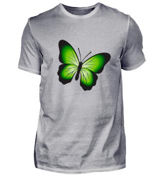 Schmetterling mit grünen Flügeln