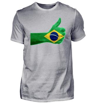 Brasilien / Brazil Wappen Logo (schwarz)