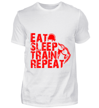 GIFT- EAT SLEEP TRAIN REPEAT RED