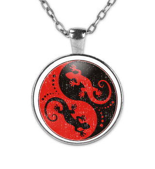 Yin Yang Geckos - Black Red KETTE