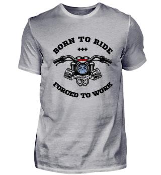 Motorradfahrer Biker T-Shirt Geschenk