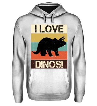 Streifen & Dinosaurier - I LOVE DINOS I