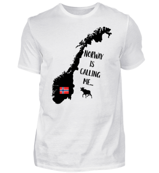 Norway is calling me Norwegenkarte Shirt