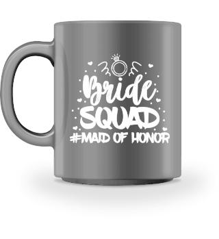BRIDE SQUAD MAID OF HONOR WEDDING