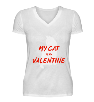 MY CAT IS MY VALENTINE red
