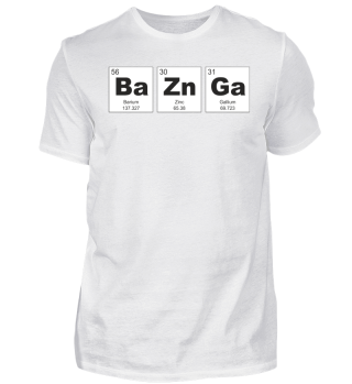 Chemical Elements BaZnGa black