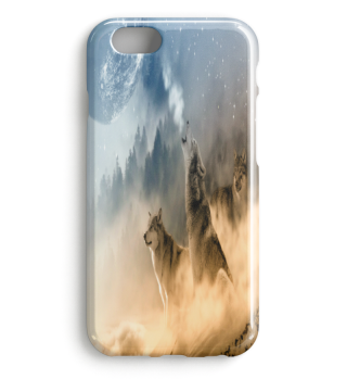 WOLVES IN SNOW PREMIUM IPHONE CASE