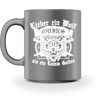 Wolf Odins Wikinger Tasse Geschenk