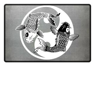 KOI Fish - Nishikigoi Yin Yang Symbol 2