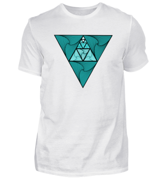 Triangel-Türkisblau