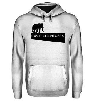 SAVE elephants - black
