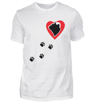 Katze / Herz für Katzen / Pfoten, lustig