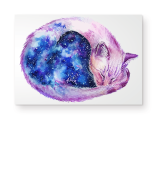 Sky Cat Galaxy Katze Weltraum Poster