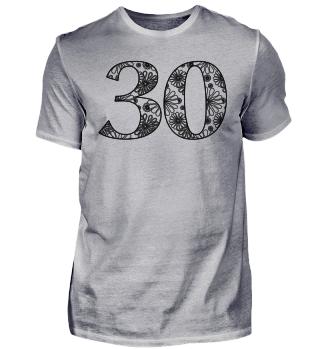 Geburtstag 30 ausmalen II - schwarz