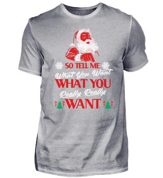 CHRISTMAS WHAT YOU T-SHIRT