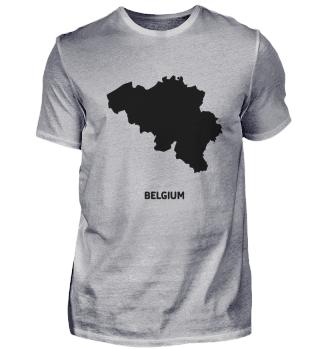 Europe icon country Belgium silhouette s