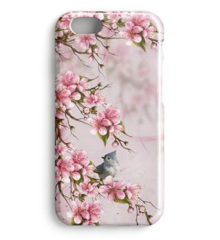 Kirschblüte mit Vogel
