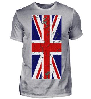 United Kingdom grunge Flag vertical IV