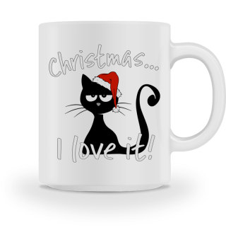I love christmas grumpy cat gift Katze