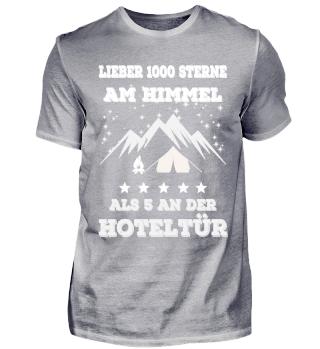 Lieber 1000 Sterne - Camping Shirt