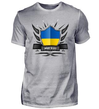 Ukraine Proud Wappen Flagge 012