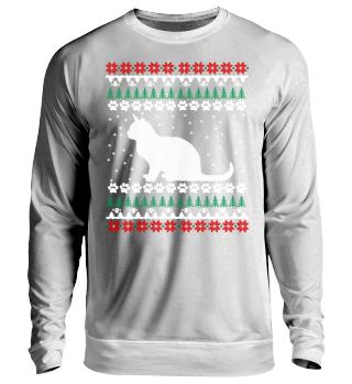 Katze Ugly Xmas Sweater Geschenk