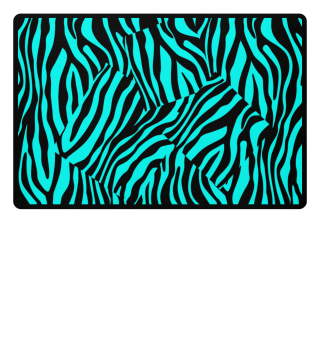 ♥ Zebra Stripes Art Black Turquoise