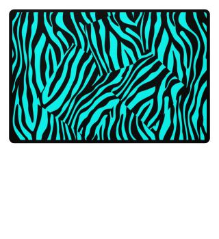 ♥ Zebra Stripes Art Black Turquoise