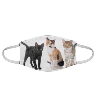 Gesichtsmaske mit Katzenmotiv 20.51