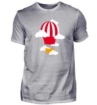 Flat Design - Hot air balloon trip